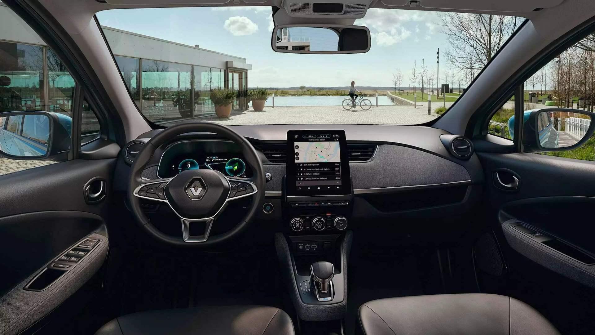 Renault Zoe türkis - Innenansicht vom Auto - Renault Ahrens Hannover