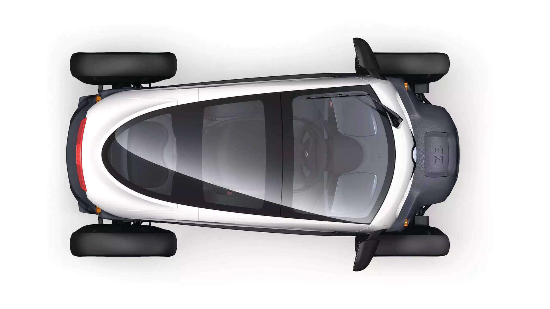 Autoansicht von oben - Renault Twizy - Renault Ahrens Hannover
