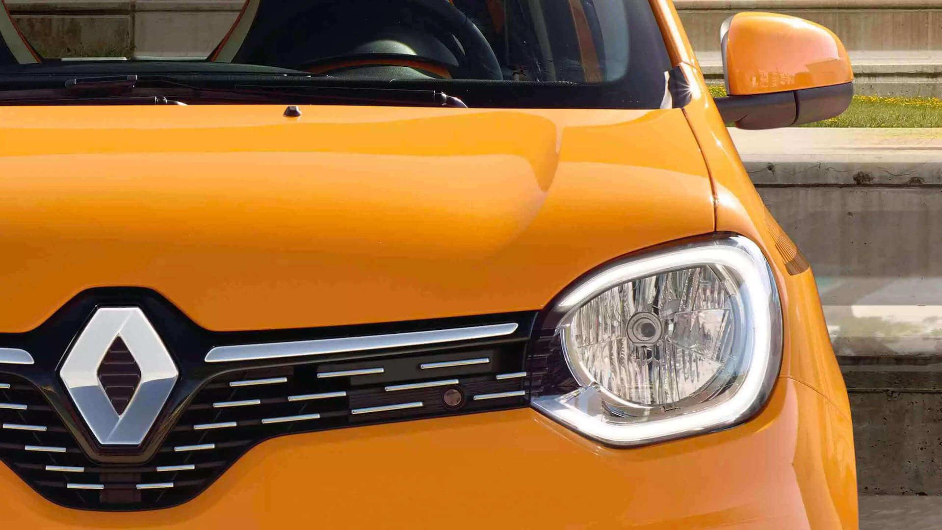 Frontansicht vom Auto - orange - Renault Twingo - Renault Ahrens Hannover