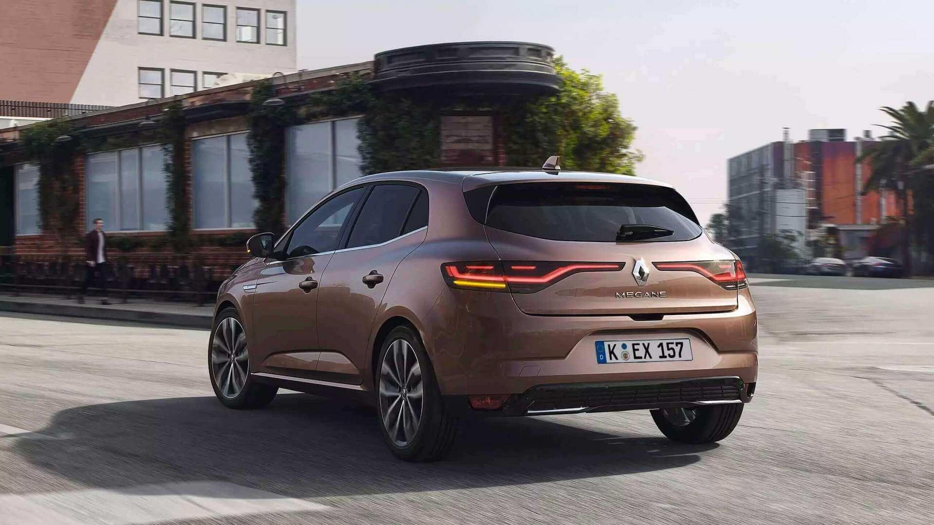 Heckansicht vom braunen Auto - Renault Megane - Renault Ahrens Hannover