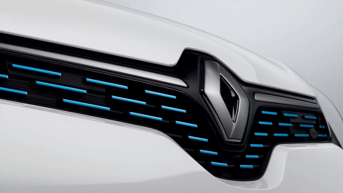 Detail vom Grill - Frontansicht mit Renault Logo - Renault Twingo Electric - Renault Ahrens Hannover